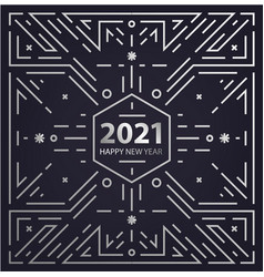 New year 2021 geometric linear concept vector