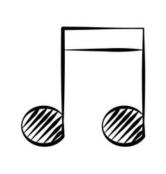 note music doodle vector image