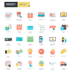 online shopping and e-commerce vector image