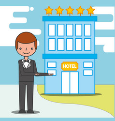 People hotel service vector