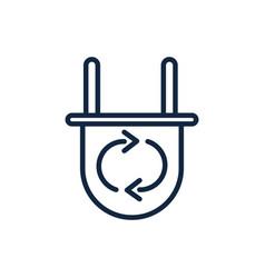 Plug energy ecology environment icon linear vector