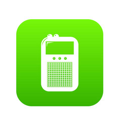 portable radio icon green vector image