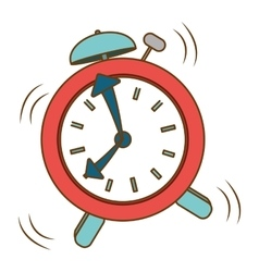 Red alarms clock icon image vector