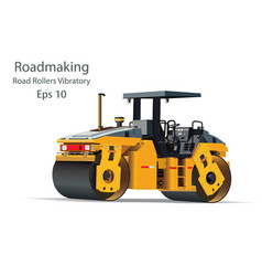 road rollers vibratory vector image