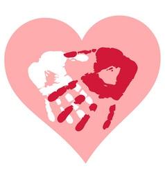 Romantic Valentine postcard vector image