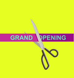 scissors and opening ribbon vector image