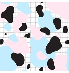 Seamless pattern blue and pink spots vector
