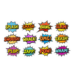 Set of comic speech bubbles cartoon vector