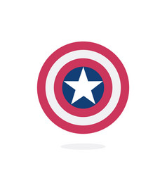 shield with a star superhero vector image