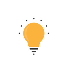 simple bulb icon with dots vector image