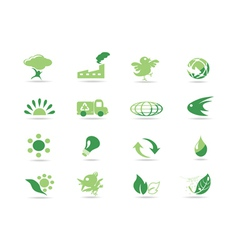 Simple green icons vector