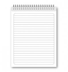 Spiral notebook vector