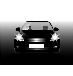 Sports car front view vector