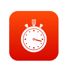 stopwatch icon digital red vector image