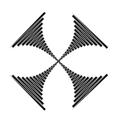 stripes cross design icon geometric shape symbol vector image