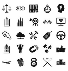 subdual icons set simple style vector image