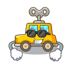 Super cool cartoon clockwork toy car in table vector