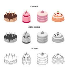 Sweetness dessert cream treacle cakes country vector