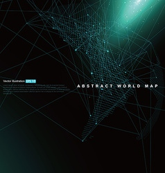 Three-dimensional abstract planet Dot world map vector