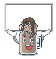Up board milkshake character cartoon style vector