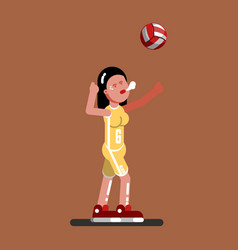 Volleyball female player vector