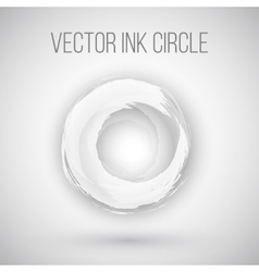 Watercolor Ink Circle Texture Logo vector image