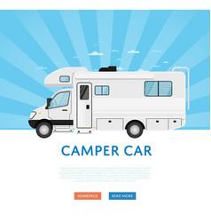 Website design with camper van vector