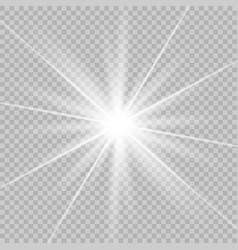 white beautiful glow light vector image