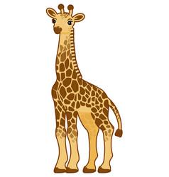 With cartoon giraffe vector