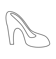 Women day high heel shoes thin line vector