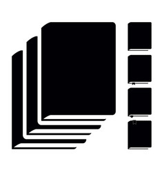 black book icons pictograms vector image vector image