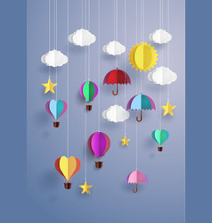 origami decorate hanging vector image