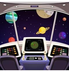 Spaceship cartoon interior vector image vector image