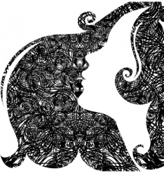 grunge closeup portrait of woman vector image vector image