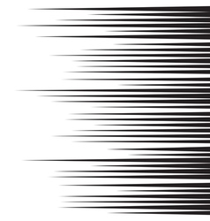 Horizontal speed lines for comic books vector