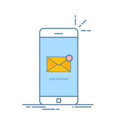 notification of an incoming email letter to a vector image