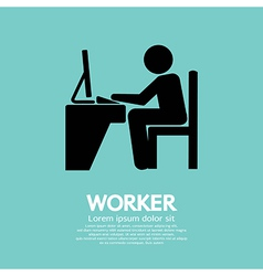 Office Worker Using Computer vector image vector image