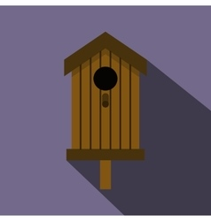 Bird house icon flat style vector image
