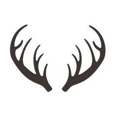 deer horns antlers vector image