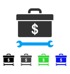 dollar toolbox flat icon vector image