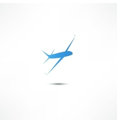 Flying airplane vector image vector image