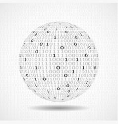 Globe of binary code abstract technology ball vector