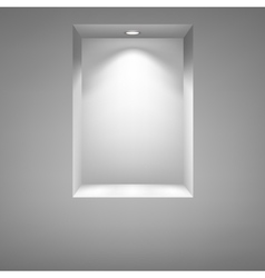 Gray niche for presentations vector image vector image