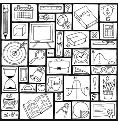 Mathematics science theme Seamless hand drawn vector image