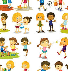 Seamless children vector image vector image