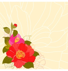 Springtime Colorful Flower Greeting Card vector image vector image