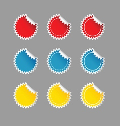 sticker set color on grey vector image