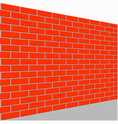 wall brick perspective view vector image
