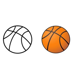 basketball ball outline vector image