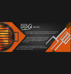 bbq banners vector image vector image